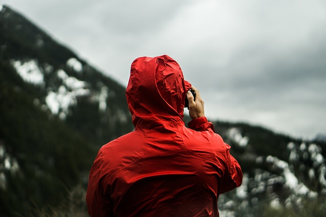A good raincoat is essential when going on a hike in the backcountry