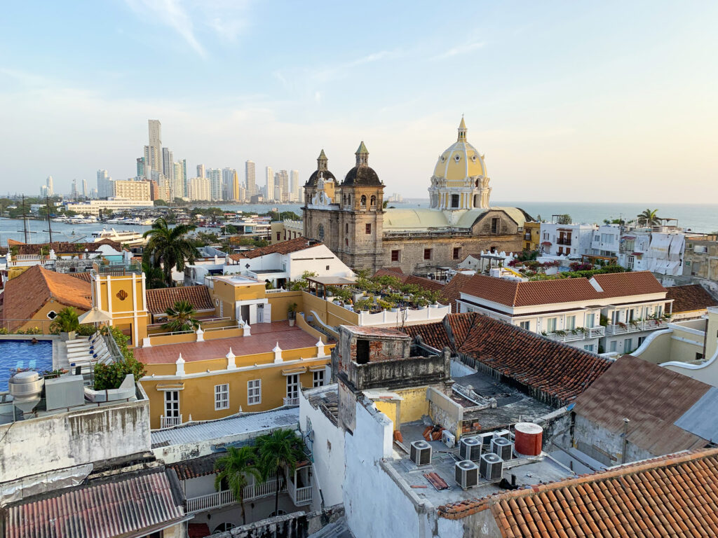 Rooftop at the movich hotel - view of Cartagena Old Town